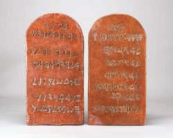 Charlton Heston Ten Commandments Tablets
