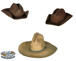 Set of three principle cowboy hats from All the Pretty Horses