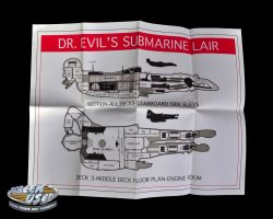 Dr. Evil submarine lair map from Austin Powers in Goldmember
