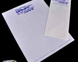 Original Back to the Future production letterhead with early logo designs