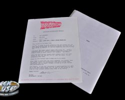 Production script with memo from Back to the Future III