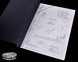 Cast and crew signed script from Batman Forever