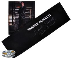 Tahmoh Penikett signed chair back from Dollhouse