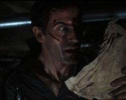 Original screen-used page of the Necronomicon (Book of the Dead) from Evil Dead 2