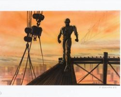 Original production design concept artwork – Robocop 2