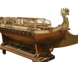 Sailing ship miniature attributed to Sinbad the Sailor