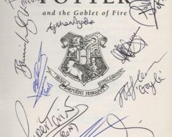 Harry Potter & the Goblet of Fire book signed by cast