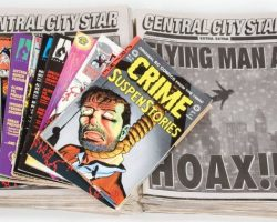 Flying Man a Hoax newspapers & comic books – The Spirit