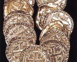 Collection of Prop Gold Doubloons from Hook