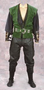 """Bruce Campbell """"Autolycus"""" costume from Xena: Warrior Princess"""