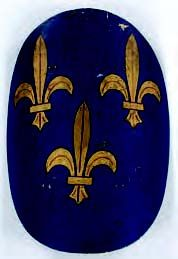 Joan of Arc couriers bag, shield, sword and scabbard