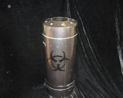 24 Screen Used Prop Canister & Cdc Folder