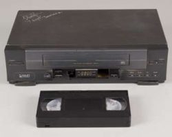 Prop VCR and videotape from The Ring