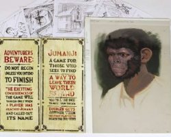 Jumanji game board plaques and storyboards