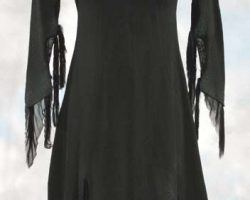 Christina Ricci black dress from The Addams Family