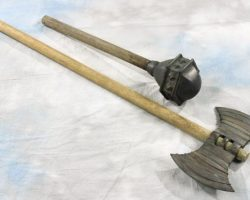 Rubber mace and axe from Troy