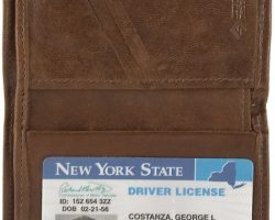 Georges Seinfeld Prop Check and Wallet with License. Props for George Costanza Jason Alexander