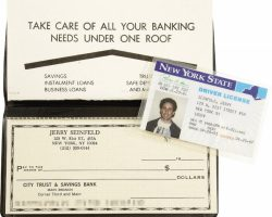 Jerry Seinfeld Prop ID and Checkbook.