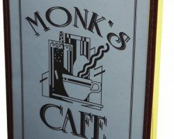 Monks Cafe Movie Prop Menu from Seinfeld