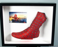 Framed Spider-man Costume Piece Left Boot Red