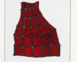 Framed Spider-man Costume Pieces Combo Lt Shoulder