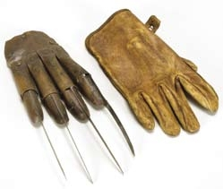 Two Freddy gloves from A Nightmare on Elm Street 5