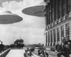 Earth vs. the Flying Saucers stop-motion flying saucer