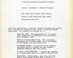 1964 1st draft treatment of the proposal for Star Trek