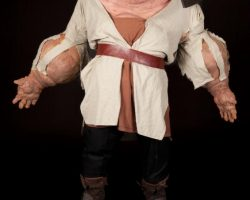"""Big Trouble in Little China screen-used """"Thunder"""" exploding head, hands and feet display"""