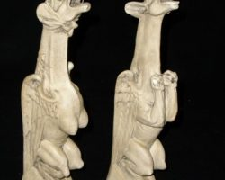 Harry Potter and the Chamber of Secrets Two ceramic statues