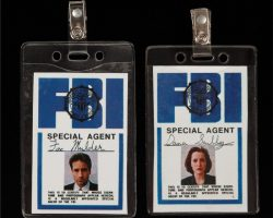 Mulder and Scully screen-used prop FBI ID tags from The X-Files