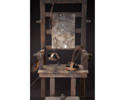 Electric chair from Addams Family Values