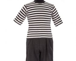 """Jimmy Workman """"Pugsley"""" striped shirt and shorts with suspenders from Addams Family Values"""