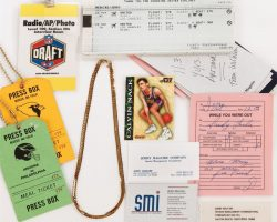 Cuba Gooding, Jr. gold chain and other props from Jerry Maguire