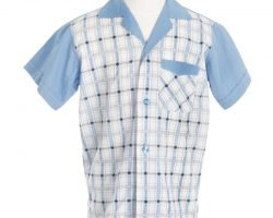 """Michael Connor Humphries """"Little Forrest"""" boy's short-sleeve button-up shirt from Forrest Gump"""