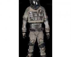"""Complete Michael Clarke Duncan """"Bear"""" astronaut suit and charging station from Armageddon"""