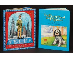 Elf book and the Puppy & Pigeon book that gets printed missing the final pages of the story