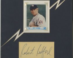 "The Natural Baseball Card With Robert Redford ""Roy Hobbs"" And Clipped Redford Autograph"