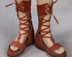 Original Stephen Boyd costume sandals from Ben-Hur