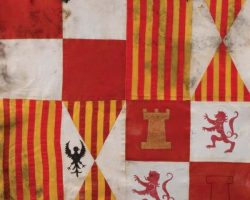 Two prop flags from El Cid