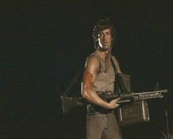 Sylvester Stallone Rambo hero M60 from First Blood