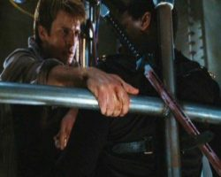 Chiwetel Ejiofor & Nathan Fillion sword Serenity