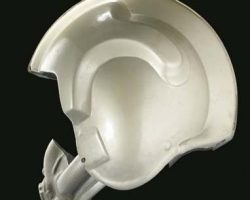 A prototype prop unfinished X-Wing Fighter Pilot helmet
