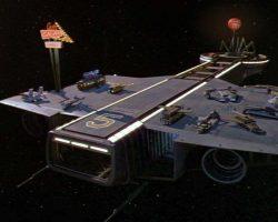 Flying winnebago spaceship & diner Spaceballs