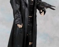 Brandon Lee signature Crow costume display