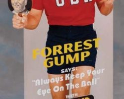 Tom Hanks table tennis standee from Forrest Gump