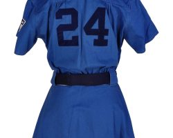 South Bend baseball uniform from A League of Their Own