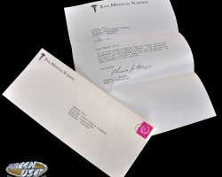 Dr. Evil medical school acceptance letter from Austin Powers in Goldmember