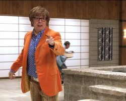 "Mike Myers hero ""Austin Powers"" costume from Austin Powers in Goldmember"