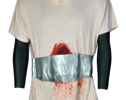 "Denzel Washington ""Eli"" studio-distressed shirt from Book of Eli"